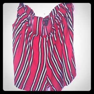 Cassie Concepts Black, Red and White Stripe Shorts